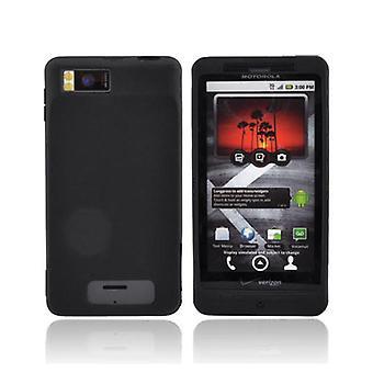 OEM Motorola Droid X silikoni iho tapauksessa MOTDRDXSILB (musta) (Bulk pakkaus)