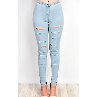 IKRUSH Womens Alisiah Riss Skinny-Jeans