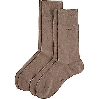 Esprit Basic 2 Pack Socks - Nutmeg Brown