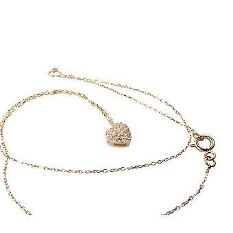 14k ouro colar de coração