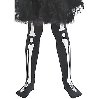 Smiffy's Skeleton Tights, Child, Black
