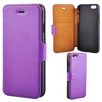Super Slim Luxury Wallet Case For iPhone 6/6S, Purple