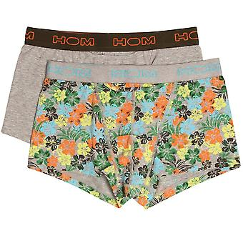 HOM HO1 Boxerlines Boxer Brief 2-Pack, Aloha, Small