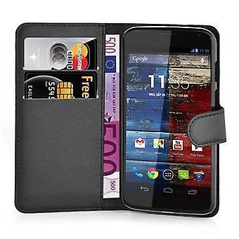 Caso cadorabo para Motorola MOTO X caso capa-telefone caso com fechamento magnético, stand função e compartimento de caixa de cartão – caso capa caso caso caso caso livro de dobramento estilo