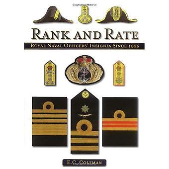 Rang og sats: Royal søofficerer insignier siden 1856