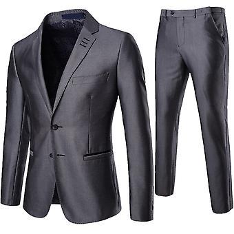 Cloudstyle Men's Suit Solid Slim Fit Business Suit