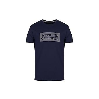 Weekend Offender Groves T-shirt In Navy