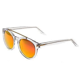 Bertha Ava polarizada óculos de sol - Clear/Rose Gold