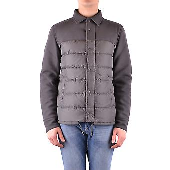 Herno Ezbc034010 Men's Grey Nylon Outerwear Jacket