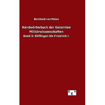 هاندورتيربوتش der جيسامتين ميليترويسينشافتين من Poten & برنهارد فون