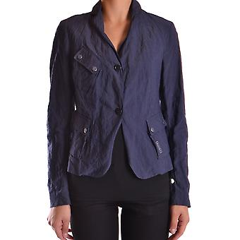 Brema Ezbc146013 Women's Blue Cotton Blazer