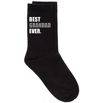 Mens beste bestefar noensinne V2 svart kalv sokker
