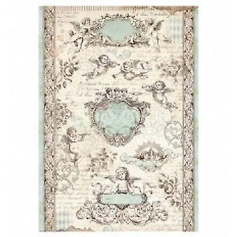 Stamperia Rice Paper A4 Angel Tags (DFSA4320)