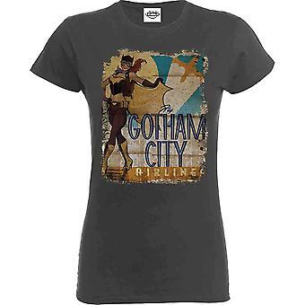 Women es Bombshell Batgirl Gotham City Airlines T-Shirt