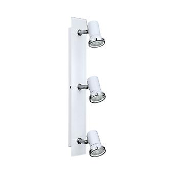 Eglo - Tamara 1 vetro bianco tripla bagno regolabile Spot EG95994 luce a soffitto