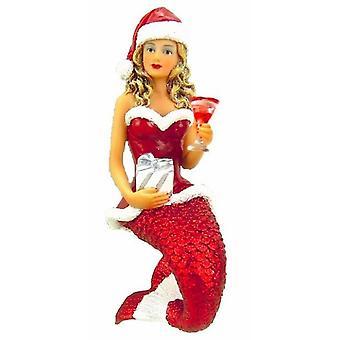 December Diamonds Santa Baby Two Mermaid Christmas Holiday Ornament 6.75 Inches