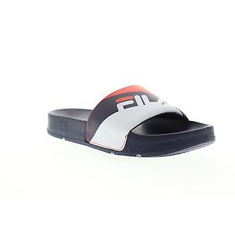 Fila Drifter Rugby  Mens Blue Slip On Slides Sandals Shoes