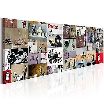Canvas Print - Art of Collage: Banksy II
