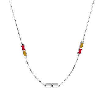 Ottawa Senators Sterling Silver Engraved Triple Station Necklace In Red and Gold