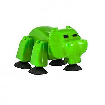 Stikbot ספארי חיות מחמד-היפופוטם ירוק