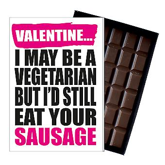 Funny Valentine Vegetarian Gift For Boyfriend Naughty Present Chocolate Card IYF177