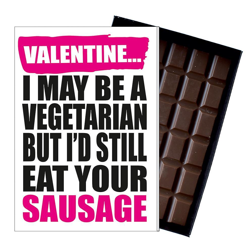 Funny Valentine Vegetarian Gift For Boyfriend Naughty Present Chocolate Card IYF177