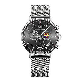 Maurice lacroix eliros fcb special edition Quartz Analog Man Watch with Stainless Steel Bracelet EL1088-SS002-320-1