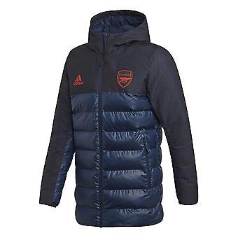2019-2020 arsenaal Adidas seizoensgebonden speciale gewatteerde jas (Navy)