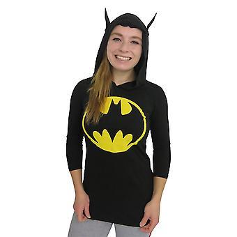 באטמן אות נשים ' חולצת טריקו שרוול ארוך ברדס
