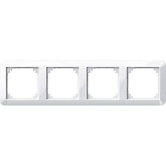 Merten 4x Frame 1-M, System M Polar white glossy 389419