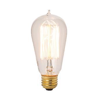 Edison style 40 watt exposed filament bulb