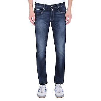 Replay Grover Straight Fit azul escuro Wash denim jeans