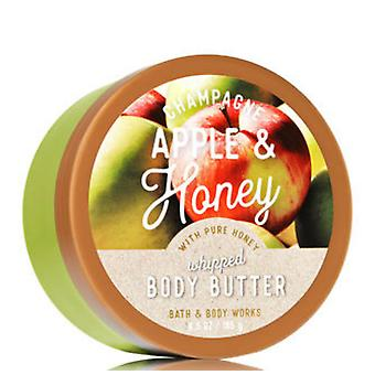 Bath & Body Works Champagne Apple & Honey Whipped Body Butter 6.5 oz / 185 g (Pack of 2)