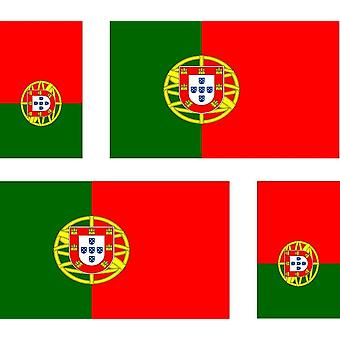 4 X Sticker Sticker Sticker Car Motorcycle Valise Pc Portable Flag Portugal Portuga