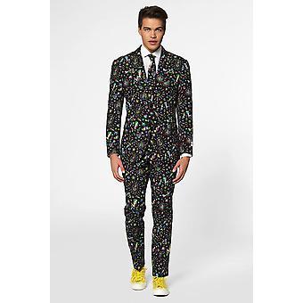 Disco Dude 80s 90s Dancer Suit Suit Slimline Men's 3-Piece Premium