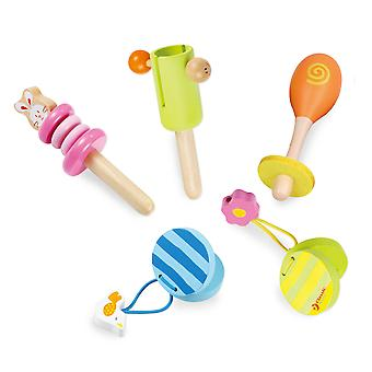 Classic World - 5 Piece Baby Music Set, Musical Instruments for Toddler and Baby Learning