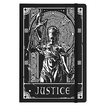 Deadly Tarot Justice A5 Hard Cover Notebook