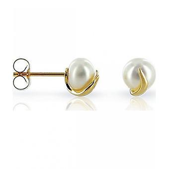 Luna-Pearls Pearl nastat makean veden helmet 6,5-7 mm 585 keltainen kulta 1021995