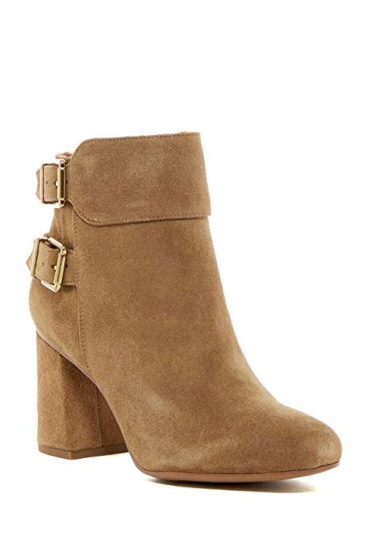 Franco Sarto Womens Kline Leather Square Toe Ankle Fashion Boots bEeIq