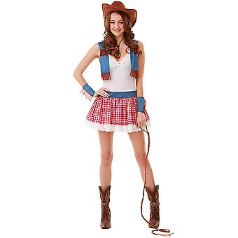 Country cowgirl kostume, M