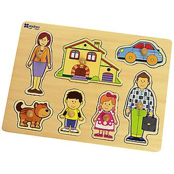 Andreu Toy Puzzle-8 Moddel Family (30 x 22.5 x 1 cm)