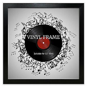 "Oxford 12"" LP Vinyl Record Frame Square Black Memorabilia Wall Album Art Display"