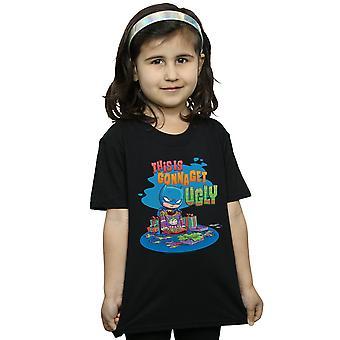 DC Comics Ragazze Super Amici Batman Joker Christmas Jumper T-Shirt