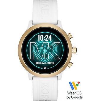Kijk naar Michael Kors MKT5071-Connect e full display MK GO Bo tier aluminium dor silicone witte vrouwen armband