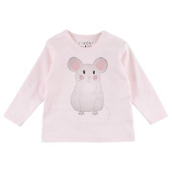 Fixoni Roze Meisjes T-Shirt Muis