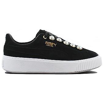 Puma Suede Platform Bling Wns 366688-01 Damen Schuhe Schwarz Sneaker Sportschuhe