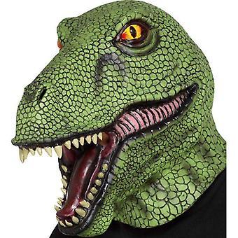 Dinosaur latex masker volwassen groen