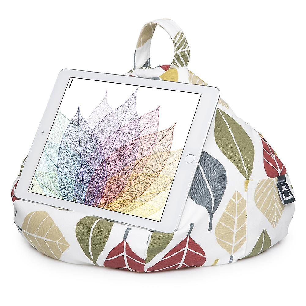 Ipad, tablet & ereader bean bag stand by ibeani - autumn leaf