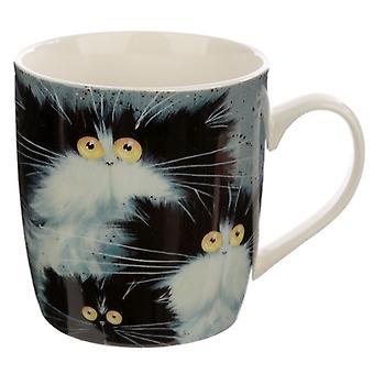 Puckator Kim Haskins Cats Mug