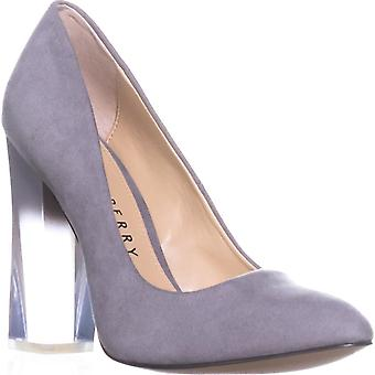 Katy Perry Womens The A.W Faux Suede Lucite Heel Pumps